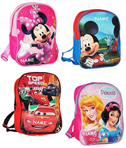alles-meine.de GmbH Kinder Rucksack -  Disney Figuren für Jungen  - incl. Name - Tasche - wasserfest & beschichtet - Kinderrucksack / groß Kind - Mickey Mouse - Disney Cars - z.. (Für Disney-rucksäcke Jungen)
