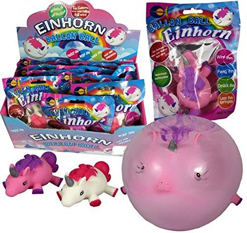JustRean Toys Aufblasbarer Einhorn Ball Ballon Luftballon -  SchwEinhorn  - mit Mundstück, schließt alleine