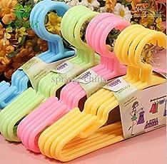 Sajani Plastic Hanger (Multicolor, Set of 12)