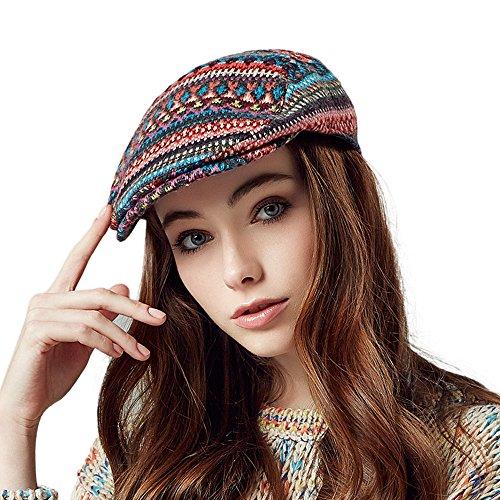 Kenmont femmes automne hiver dame décontractée gavroche chauffeur de taxi pic chapeau de pare-bouchon de lierre Foncé Gris