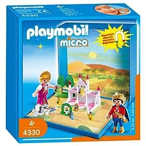 Playmobil micro - aimante - chateau avec princesse et prince - 4330