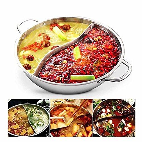 Fiesta Kasserolle mit 2 Gittern und 2 Geschmacksrichtungen Edelstahl Hot Pot Mandarine Duck PotSuppentopf (Pot Mits Hot)