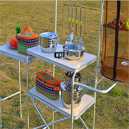 Klapptisch Campingtisch Geeignet für Outdoor-Camping oder Mobile Küche Lagerung zum Zusammenklappen von tragbaren Regalen (Camping-küche Lagerung)