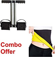 CC&S Double Spring Tummy Trimmer ABS Exerciser and Slim Waist Trimmers Belt (Multicolour, XXL)