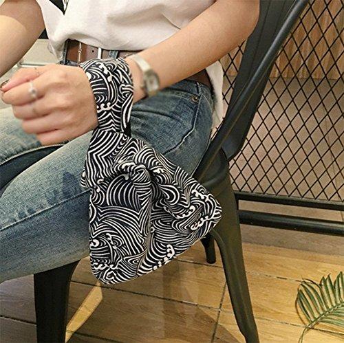 Laat pieghevole cinturino borsa in pelle donne borsa frizione sacchi porta carte di credito soldi di stoccaggio della corsa trasporta zaini piccola borsa tote bag Color 1 21*17*5 Color 2