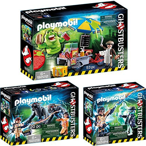 Playmobil® GhostbustersTM 3 pcs. Set 9222 9223 9224 Slimer with hot dog stand + Venkman with Terror Dogs + Spengler and ghosts