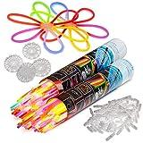 400 Knicklichter 20 cm x 0,5 cm im 6-FarbenMix, Glowsticks, Leuchtstäbe