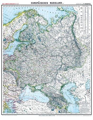 Russland-karte (Historische Karte: EUROPÄISCHES RUSSLAND - um 1903 [gerollt]: Carl Flemmings Generalkarten No. 33)