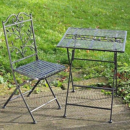 Gartenmöbel Toscana Eisentisch Eisenstuhl Sitzbank Eisengrau (4er Stuhl 2712900)