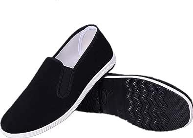 AioTio Scarpe antiche Cinese Tradizionale di Pechino Scarpe Kung Fu Tai Chi Gomma Sole Unisex Nero