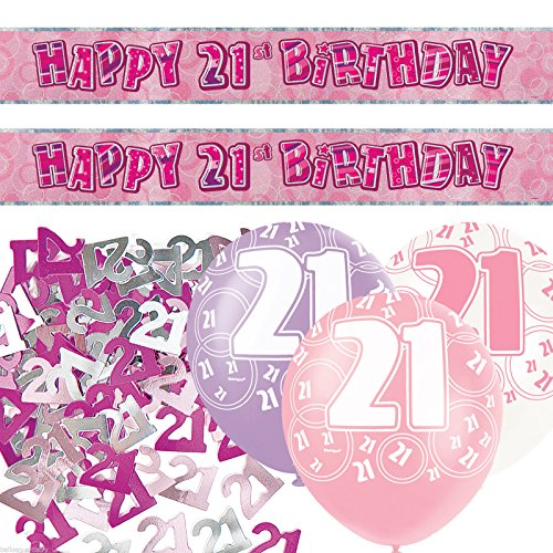 Unique 21 Birthday Balloons And Banners Amazoncouk IF88
