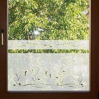 604 / 50cm hoch Sichtschutz Folie Fenster Sichtschutzfolie Fensterfolie Glasdekor Sichtschutzfolie Window blickdicht wasserfest selbstklebende Folie