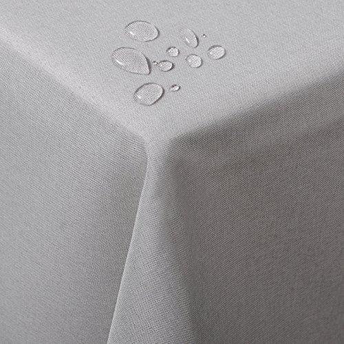 Woltu td3036hgr tovaglia rettangolare copritavolo decorazione da tavolo tessuto in resisente impermeabile poliestere grigio chiaro