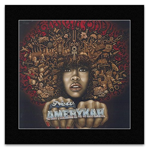 ERYKAH BADU - New Amerykah 2008 Matted Mini Poster - 26.5x24.5cm (Erykah Poster Badu)