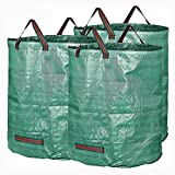 KINGDUO 3 Packs Gartenabfall Säcke 72 Gallonen Zweig Blätter Sammeln Housekeeping Lagerung Körbe