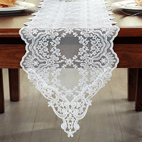 Preisvergleich Produktbild PRIDE S Lace Esstisch Tischdecke Tischläufer ( Farbe : Weiß , größe : 30*250cm )