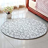Semplice tappeto rotondo in poliestere, sedia girevole per sedie da ufficio con ottomano, soggiorno camera da letto monolocale tappeto morbido, antiscivolo assorbente, 90 * 90 cm, 120 * 120 cm ( Color : A , Dimensione : 120*120CM )