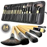 SKINPLUS 24 Pieces Professional Makeup Brush Set With Travel And Carry Case Travel Makeup Brush Fan, Foundation...