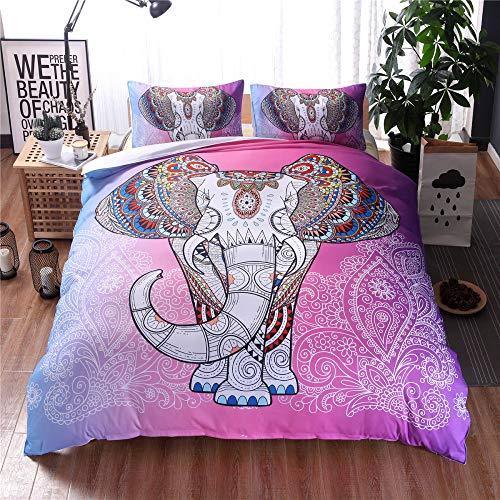 3D ethnischen Stil Elefant Bettwäsche drei oder vier Sätze von Aquarell Elefanten dreiteiligen Set 245 * 210 -