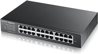 Zyxel 24-Port Gigabit Web/Smart Managed Switch - Design ohne Lüfter fanless [GS1900-24E]