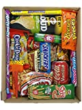 Confezione MOLTO GRANDE di SNACK AMERICANI by AMERICAN UNCLE | Tanti snacks made in USA: bibite, dolce e salato | AMERICANBOX L da 27/30 pezzi | Idea regalo originale