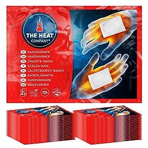 THE HEAT COMPANY Handwärmer – EXTRA WARM – Taschenwärmer – 12 Stunden warme Hände – sofort einsatzbereit – luftaktiviert – rein natürlich – 40 Paar