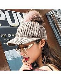 Sciarpe Xiaolin- Cappello Selvaggio Hairball Cappello Lavorato A Maglia  Autunno E Inverno Tenere Caldo Grondaia 43cc3bccb819