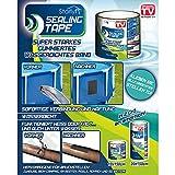 Starlyf Sealing Tape® - Nastro sigillante impermeabile super resistente per riparazioni, in due misure, 10x 150cm o 20x 150cm, Nero