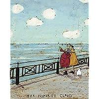 """Sam Toft""""Her Favourite Cloud Canvas Print, Cotton, Multi-Colour, 40 x 50 cm"""