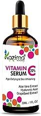 KAZIMA Vitamin C Serum with Aloe Vera Extract, Hyaluronic Acid, Cucumber Extract for Face(30ml)