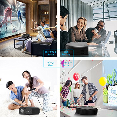 ELEPHAS HD Home Cinema Overhead Video Projector with 3300 Luminous Efficiency LED Projector Support 1080P HDMI USB VGA TV Laptop Smartphone Ideal for Movies Party Games