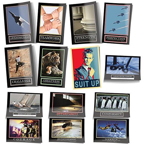 - Barney Stinson Poster Set - 13 Poster Wandbild Dekoration How I met Your Mother Motivationsbilder Deko Bilder (85 x 60 Centimeter) ()