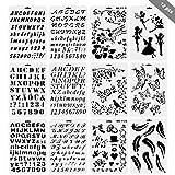 f3082597d6 Set di 12 Stencil in Plastica Riutilizzabili Bullet Journal Stencils in  Numero L'allfabeti Lettere
