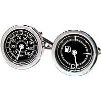 Peora Speedometer Shirt Cufflinks for Men Business Corporate Wedding Gift