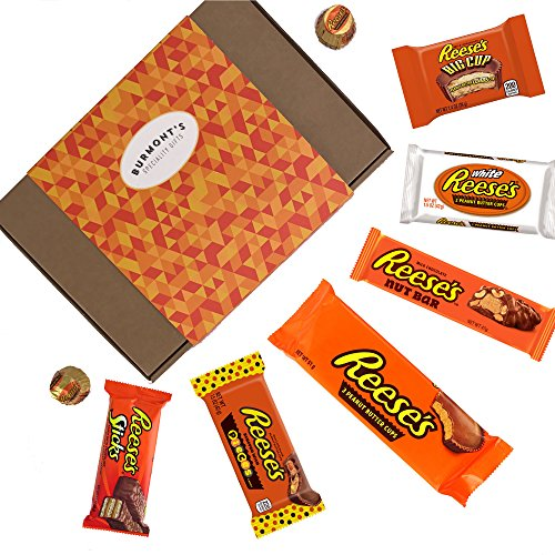 ection Box - 8 Items - Includes NEW Pieces Cups, Nut Bar, Sticks, White & More Hamper Exclusive To Burmont's (Halloween Candy Bars)
