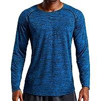 ZIYOU Männer Sport Fitness Langärmelige Herren Loose Elastisch Schnell Trocknend Long Sleeve T-Shirts