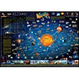 Childrens Map of the Solar System flat laminated map dino (Dino Wall Maps for Children)