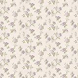 MyTinyWorld Confezione da 5 casa delle Bambole Misto Violetto Fiori su Bianco Carta da Parati Fogli