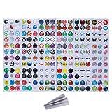 Wisdompro - Adesivi per tasto Home, 216possibilità di scelta: pois, bolle colorate, emoji e affini, compatibili con Apple iPhone 4S, 5/5C/5S, 6/6 Plus, SE, iPod Touch 4, 5, 6, iPad 3, 4, Mini 2, 3 e Air 2