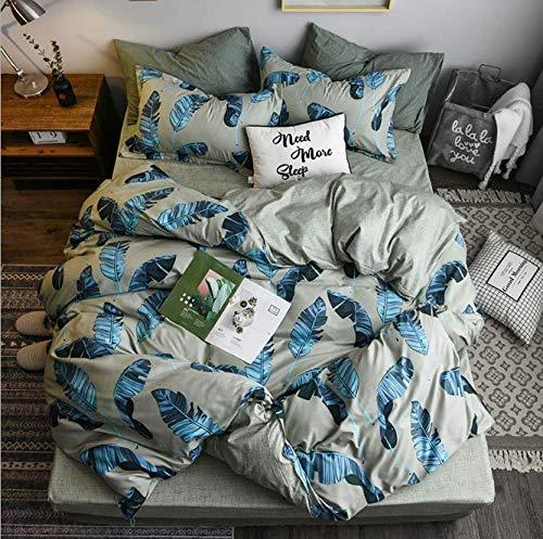 Bambusfaser Satin Bettwäsche Set Chinesischen Klassischen Stil Bettbezug Set Bohomian Silk Gefühl Bettwäsche König Queen Size Grün 220x240 cm