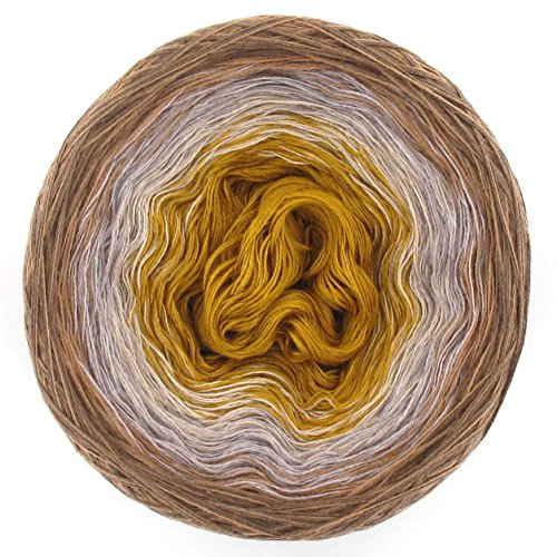 LoLa Farbverlaufsgarn Bobbel Baumwolle Zimtstern, Variante:3fach - 150g 750m