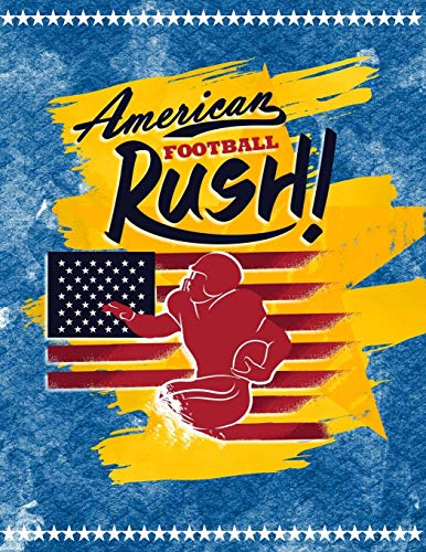 American Football Rush!: Quad Ruled 5x5 Graph Paper Notebook (5 squares per inch) - Large 8.5