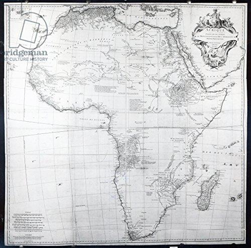 leinwand-bild-70-x-70-cm-map-of-africa-engraved-by-guillaume-delahaye-1749-engraving-b-w-photo-bild-
