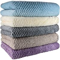 Throw, Super Soft Blanket, 130cm x 180cm, Machine Washable, Teddy Bear Throw, Suitable for Bed Chair or Sofa, Heather