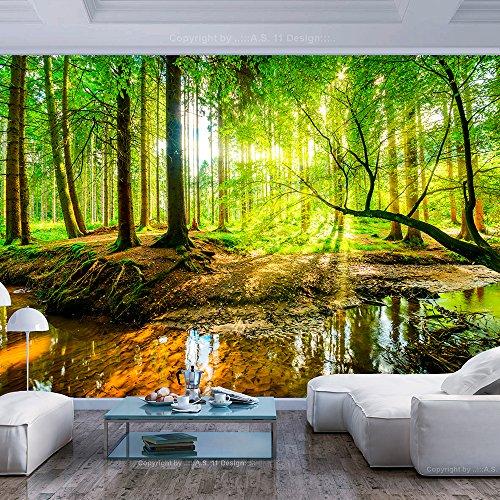 murando - Fototapete Wald 400x280 cm - Vlies Tapete - Moderne Wanddeko - Design Tapete - Wandtapete - Wand Dekoration - Natur Baum grün c-B-0241-a-a