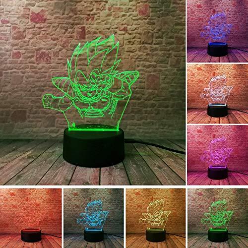 Hot Dragon Ball Monkey 3D Nacht Lampe Super Saiyajin Goku Action Figur Led Glühbirne Schreibtisch Licht Bunte Visuelle Illusion Usb Stimmung Geschenke -