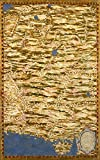 MAP ANTIQUE DANTI GOLD ATLAS AFGHANISTAN PAKISTAN REPLICA