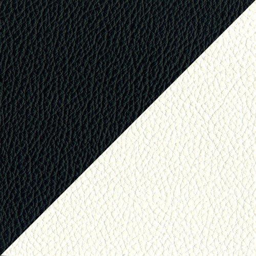 Espirit LED Designer Bed - Gas Lift Storage - Ottoman - Faux Leather (King Size 5ft, Black/White)
