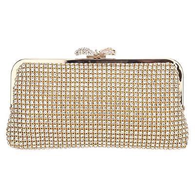 Bonjanvye Evening Clutch Crystal Bow Clutch Purses And Handbags For Girls