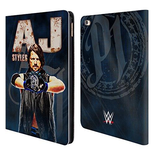 Offizielle WWE AJ Styles Superstars Brieftasche Handyhülle aus Leder für iPad Air 2 (2014) (Ipad Air 2 Case-hulk)